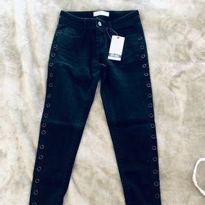 Zara Basic Z1975 Jeans w/ Side Detail Size 4 / 26